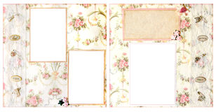 12个格式页剪贴薄婚礼x 库存照片