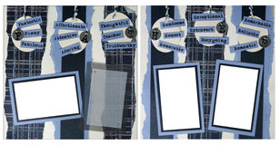 12个父亲格式页剪贴薄x 免版税库存照片