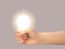 12个电灯泡姿态光 库存图片