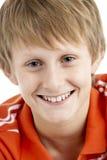 12个男孩老纵向微笑的年 免版税库存照片