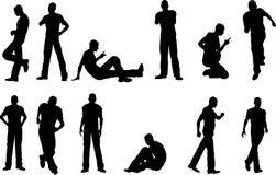 12个男性姿势 免版税库存图片