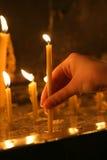 12个蜡烛新 库存照片