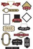 12个设计徽标集 库存照片