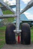 12个齿轮直升机着陆mi 免版税库存图片