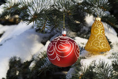12圣诞节装饰结构树 库存图片