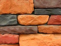12块砖模式石墙 库存照片