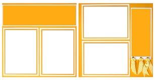 12明亮的格式丝带剪贴薄x黄色 免版税图库摄影