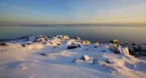 12月北部岸雪 库存图片