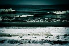 12月海浪 图库摄影