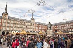12月马德里 免版税库存图片