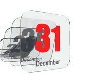 12月31日结尾年 向量例证