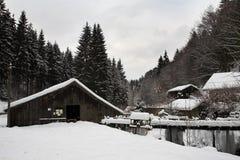 12横向雪 免版税图库摄影