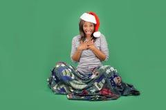 12美丽的辅助工s圣诞老人 免版税库存图片