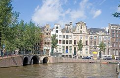 12阿姆斯特丹典型的视图 库存照片