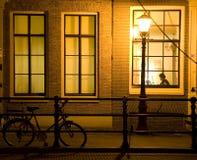12阿姆斯特丹晚上 免版税库存照片