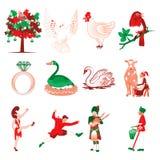 12 ημέρες των Χριστουγέννων Στοκ εικόνα με δικαίωμα ελεύθερης χρήσης