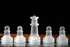 12 κομμάτια σκακιού Στοκ Φωτογραφίες
