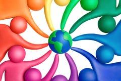 12 χρώματα που ενώνονται Στοκ Εικόνες