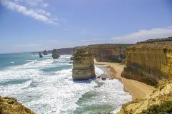 12 апостолов вдоль большой дороги океана Стоковые Фотографии RF