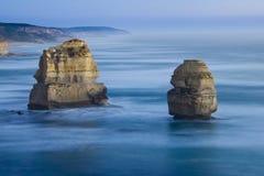 12 апостолов после захода солнца Стоковые Изображения