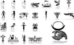 12 больших установленной иконы Египета Стоковая Фотография