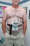 12 прикрепили пациента руководства ekg к Стоковое фото RF