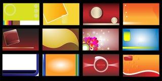 12 установленной визитной карточки Стоковая Фотография RF