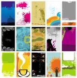 12 шаблона визитных карточек иллюстрация вектора