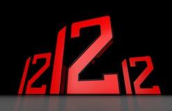 12-12-12 ilustração do vetor