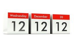 12.12.12 - Dia original ilustração stock