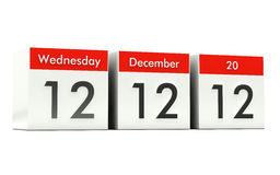 12.12.12 - Unique Day. Wednesday 12 December 2012 Royalty Free Stock Photography