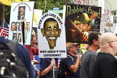 12 2009 c d行军当事人9月茶华盛顿 免版税库存照片