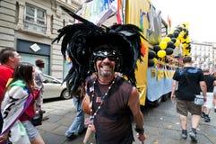 12 2010位同性恋者6月米兰自豪感 免版税库存照片