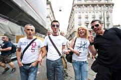 12 2010位同性恋者6月米兰自豪感 库存图片