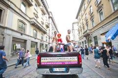12 2010位同性恋者6月米兰自豪感 图库摄影