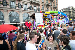 12 2010位同性恋者6月米兰自豪感 免版税图库摄影