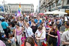 12 2010位同性恋者6月米兰自豪感 库存照片