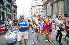 12 2010位同性恋者6月米兰自豪感 免版税库存图片