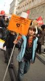 12 2010年意大利行军学校罢工 库存图片