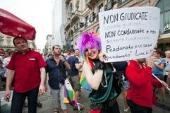 12 2010 ομοφυλοφιλική Μιλάνο &u Στοκ Εικόνες