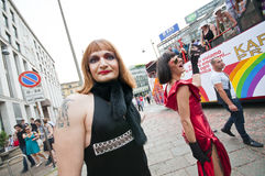 12 2010 ομοφυλοφιλική Μιλάνο &u Στοκ φωτογραφίες με δικαίωμα ελεύθερης χρήσης