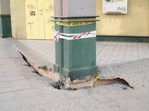 12 2010 землетрясений valparaiso -го Чили февраль Стоковая Фотография RF