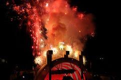 12 4$α πυροτεχνήματα Ιούλιο&si Στοκ Εικόνα