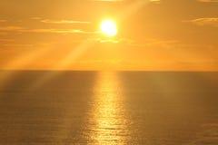 在海洋12的日出 免版税库存图片