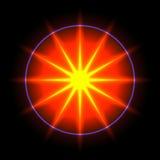 透镜火光传染媒介背景12 免版税图库摄影