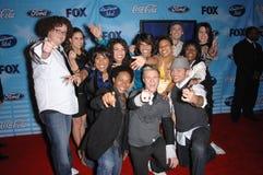 12 amerykański finalistów idola wierzchołek Fotografia Royalty Free