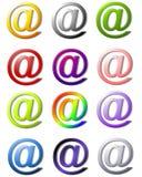 12 ampersand asortowanego symbolem Fotografia Stock