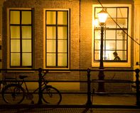 12 amsterdam night Στοκ φωτογραφία με δικαίωμα ελεύθερης χρήσης