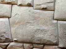 12 angle stone in Inca wall in Cuzco Stock Image