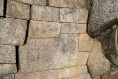 The 12-angled stone in ancient Inca, Peru Royalty Free Stock Photography